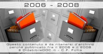 Questa immagine contraddistingue gli articoli d'archivio scritti da Carlo Filippo Follis fra il 2006 ed il 2008 quando DisabileDoc.it era solo un Blog personale